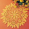 Autumn Marigolds Doily