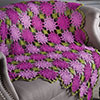 Blooming Broomstick Lace Throw