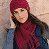 Chunky Chain Button Scarf & Hat