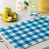 Gingham Place Mat & Coaster