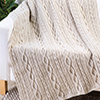 Chained Loop Aran Throw