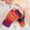 Holiday Countdown -- Color Play Fingerless Mitts